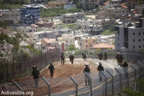 Kontrola Golan Izraelskymi Vojaky